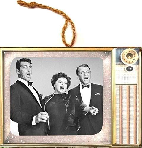 Followthemoonart Judy Garland Frank Sinatra & Dean Martin Old Classic Television Vintage Look Wood Ornament