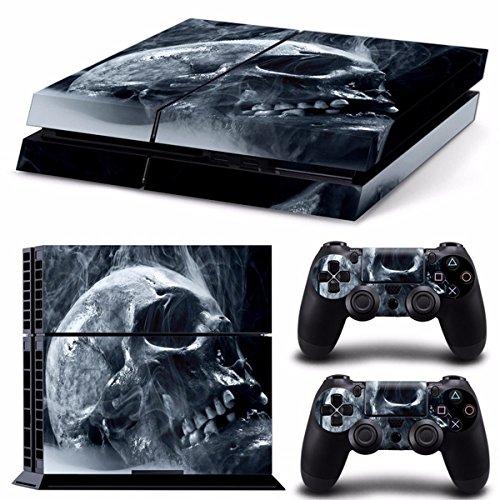 ILS Skull Style lederen sticker PS4 Play Station 4 console 2 regelaars vinyl