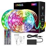 【Ultra-Lang】LED Strip 40M, LYMIUS LED Streifen RGB mit Fernbedienung, 20 Farben und 6 Szenenmodi für Schlafzimmer, TV, Party, Urlaub, Küche, Inneneinrichtung
