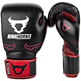Ringhorns Destroyer Guantes de Boxeo, Unisex Adulto, Negro/Rojo, 14oz