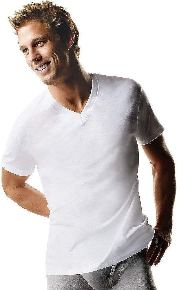 Hanes ComfortSoft Tagless Men's Big & Tall V-Neck Undershirt 3-Pack
