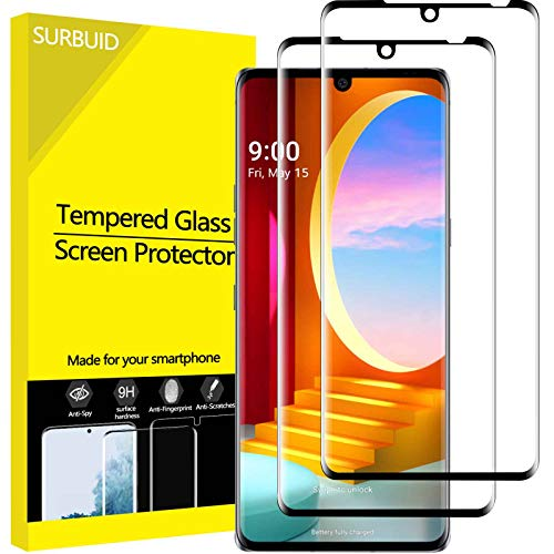 """Price comparison product image (2 Pack) LG Velvet Screen Protector Tempered Glass,  Full Coverage 3D Curved Edge High Definition Anti Scratch 9H Hardness Bubble-Free Case Friendly Screen Protector for LG Velvet 2020 6.8"""""""