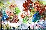 BinTing 1500 Piezas de Rompecabezas de Madera para Adultos, árbol de Colores, Regalo para niños, Rompecabezas de Madera de Animales, Juguetes y Juegos Que encajan con Obras de Arte desafiantes