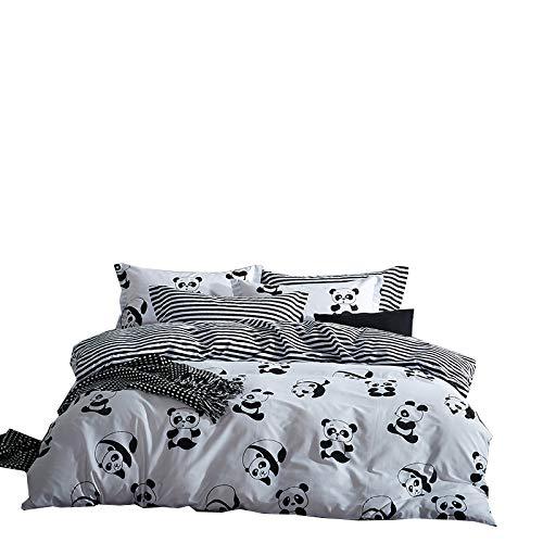 N-A Bettwäsche-Sets Baumwolle Schwarz-Weiß Vierer-Set Baumwolle Vierer-Set Bett Bett Bettwäsche 200 x 200 cm S Bettwäsche 230 x 230 cm Plus Kissenbezug 50 x 75 cm x 2 1