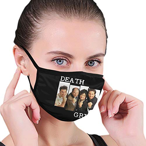 Womens Dustproof Masks Reusable Face Cover Death Grips Best Man Mouth Masks Fashion Anti Dust Pollution Washable Balaclava for Outdoor Hiking Cycling Black