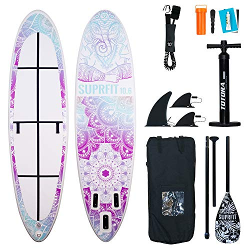 Suprfit SUP Yoga Board I Stand up Paddle Board I Komplettset: Paddelboard,...