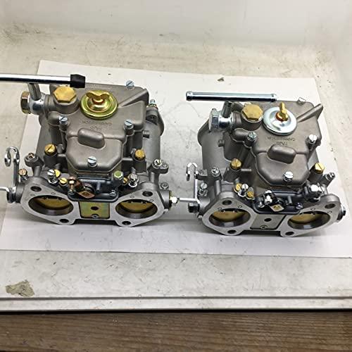 Piezas de repuesto para cortacésped Sherryberg (2x) 45 DCOE 152 Twin Carburador de carburador FAJS 45mm 45Dcoe carburador para Weber Solex DellORTO para VW VAUXHALL ALFA ROMEO Accesorios para