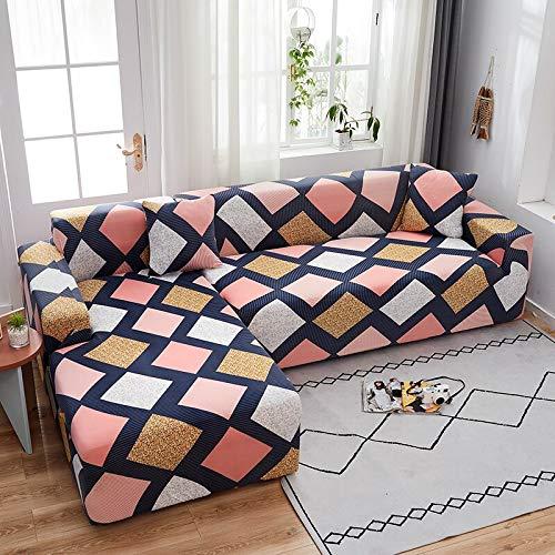 Fodere per divani angolari Elastiche per Soggiorno Fodere per Divano Fodere per Divano Elasticizzate Asciugamano a Forma di L necessità di Acquistare 2 Pezzi A15 4 posti