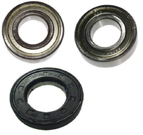 Juego de rodamientos de tambor para lavadora Privileg AEG 6205ZZ / 6206ZZ, sello del eje 35 x 62/11 x 12,5