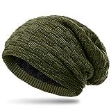 Photo de Caspar MU133 Bonnet en tricot doublé de polaire Teddy unisexe, Couleur:vert olive, Taille:Taille unique