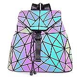 HOT ONE Colour Cambia Zaino Donna Borse e Borsette Luminose Geometriche Borsa Olografica Borsa Riflettente Borsa Moda