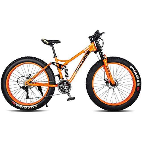 XRQ Fat Tire Mens Mountain Bike, Carbon 24\