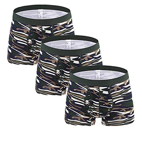 TIGERROSA 3 Teile/los Camouflage Woodland gedruckt männlichen Underwear sexy männer Boxershorts Soldat Baumwolle u Konvexe Boxer Homme Flut Cueca m-3xl Stil b @ XL