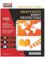 "Heavy Duty Clear Sheet Protectors, 8.5"" x 11"", 150 Pack, Top Load,Reinforced Holes, Acid-Free/Archival Safe [並行輸入品]"