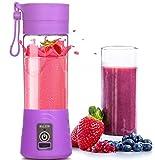 MHGAO Cargador eléctrico mini Juicer USB Juicer copa de seguridad, mezclador de jugo de frutas, portátil recargable multifuncional jugo de fruta taza de agua de la Copa, purple
