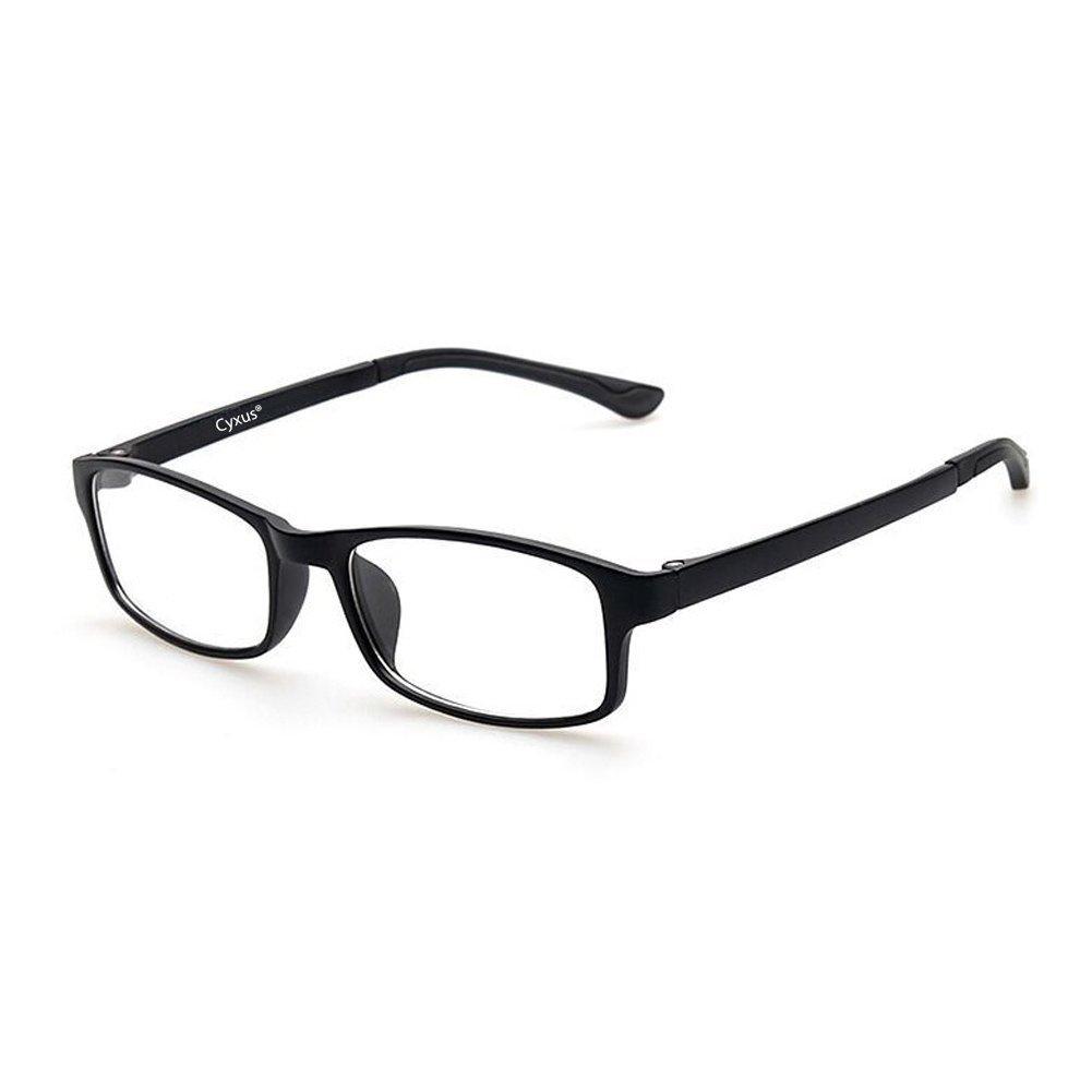 Cyxus Blue Light Blocking Lightweight Tr90 Glasses For Anti Eye Strain Headache Computer Use Eyewear Men Women Tr90 Black Amazon In Health Personal Care