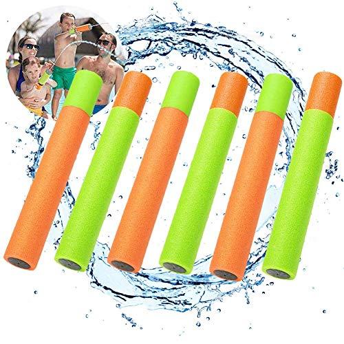 Gohist Wasserspritzpistole, Mini Schaumstoff Wasserpistole Spritzpistole Wasserspritze 6stk (33cm)