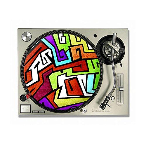 80er Jahre Graffiti DJ Turntable Slipmats/Slipmats/Slipmats/Slipmats/Slipmats/Slipmats 30,5 cm oder 17,8 cm (7 Zoll)