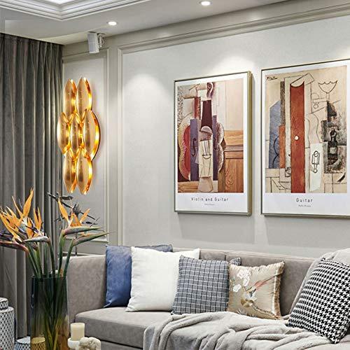 Applique Applique Golden Light Luxury Villa Living Wall LED Lampe Salle Aisle mur
