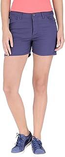 Campus Sutra Plain Shorts Blue