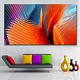yhyxll Impresiones en Lienzo 3D Pintura Abstracta Cartel de Arte de Pared para Sala de Estar Imagen Decorativa Moderna Decoración de hogar de Gran tamaño sin Marco 30x55CM