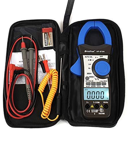 HoldPeak HP-870N AC DC Stromzange Zangen Multimeter Amperemeter TrueRMS Gleichstromzange digital