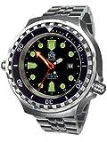 Reloj de buceo automático de 52 mm, indicador de 24 horas, cristal de zafiro, correa de...