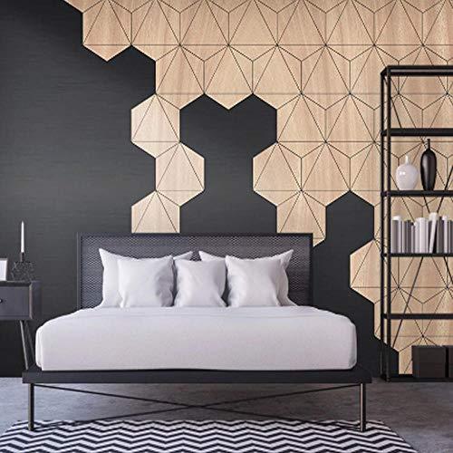 XHXI 3D Tridimensional Nordic Ins Wind Tv Fondo Papel de pared Pentagonal Película creativa y televisión Revestimiento de p papel Pintado de pared tapiz Decoración dormitorio Fotomural-300cm×210cm