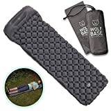 WOLF BASE Ultralight Sleeping Mat with Pillow Quick Inflatable Air Pad for Camping