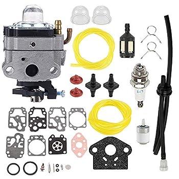 Hayskill Carburetor for Troy-Bilt TB575SS TB525CS TB26TB TB475SS TB490BC TB425CS TB465SS Ryobi 650R 825R 875R 890R Yardman Bolen MTD Gas Trimmer Carb 753-04745 753-04296