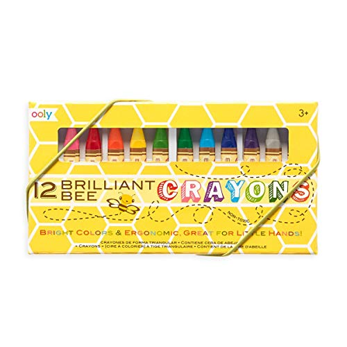 OOLY, Brilliant Bee Crayons, Bright and Vivid Triangular Crayon - Set of 12