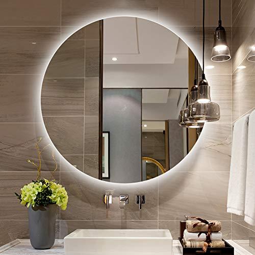L&ED Illuminazione a LED Rotonda Specchio per Bagno Specchio per Trucco retroilluminato, Vanità,...