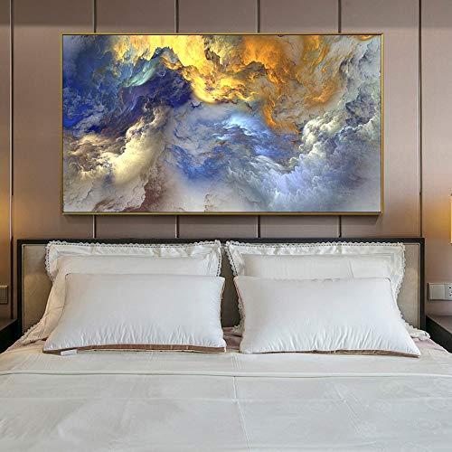 ganlanshu Rahmenlose MalereiAbstrakte Leinwanddrucke, Wandkunstplakate und -drucke, Pop-Art-Goldgemälde 40X80cm