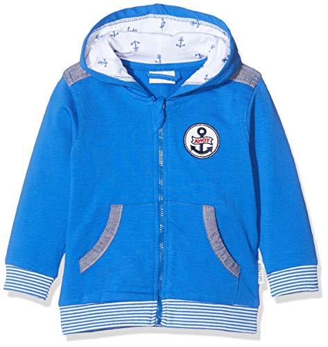 Salt & Pepper Baby-Jungen 03218108 Sweatjacke, Blau (Strong Blue 483), (Herstellergröße: 80)