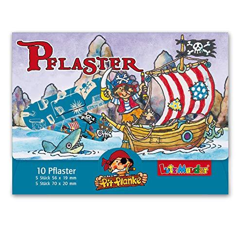 Neu: 10 Kinderpflaster * Pirat Pit Planke * von Lutz Mauder | 14617 | Pflaster Pflasterbriefchen Kinder Kinderpiraten Heftpflaster