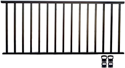 Contractor Deck Railing 8ft x 36in Aluminum Residential Railing - Hammered Black