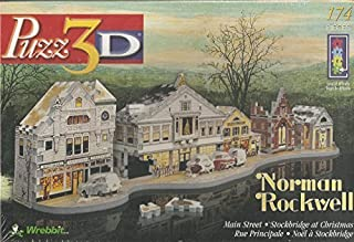 Puzz3D Norman Rockwell Main Street - Stockbridge at Christmas 174 Piece Puzzle
