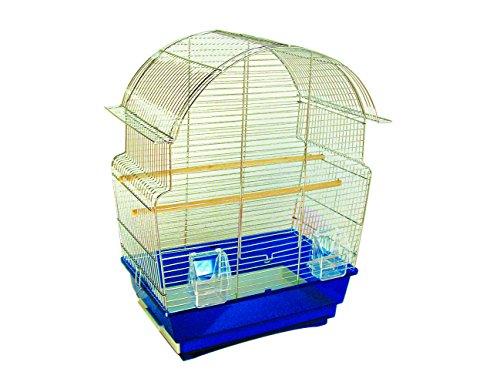 VADIGRAN Pagoda Cage pour Petit Oiseau Chrome 47 x 29 x 59 cm