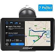 Navigatore Satellitare Auto, 7 Pollici GPS per Auto Moto Mappa dell'Europa Precaricata più Recente, Avviso Traffico Vocale, Limite di Velocit, POI, Rubrica, Pianificazione intelligente del percorso