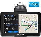 Navigatore Satellitare Auto, 7 Pollici GPS per Auto Moto Mappa dell'Europa...