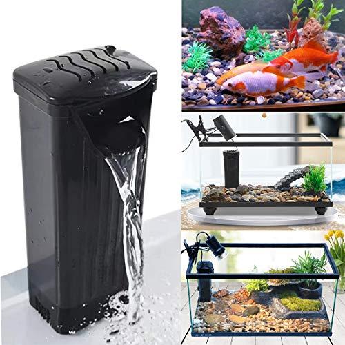 K1-Store Internal Filter Aquarium Turtle Filter Low Water Level Clean Pump for Reptiles Turtle Tank Fish Tank Amphibian Tank (Filter Black)
