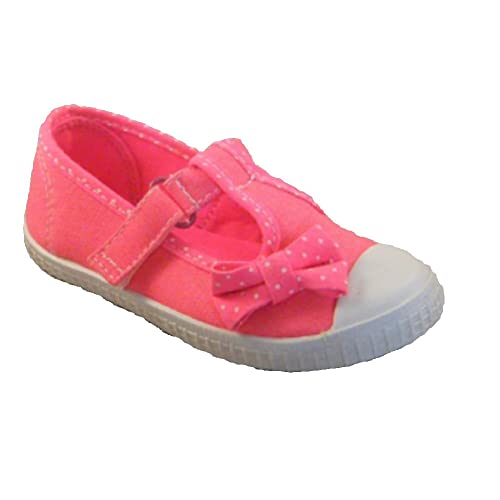 Chatterbox Kids Girls Mary Jane Pumps Canvas Trainers Summer Beach Shoes Strap Size UK 4 5 6 7 8 9 10 11 12 Infant Toddler Child
