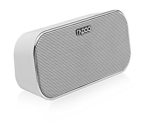 Rapoo A500 Tragbarer Bluetooth NFC Lautsprecher (Freisprechfunktion, Dual Mode) weiß