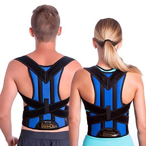 ZSZBACE Corrector de Postura Espalda, Ajustables Apoyo de Espalda para Hombres y Mujeres, Enderezador de Espalda, Aliviar el Dolor de Espalda y Hombro (M)