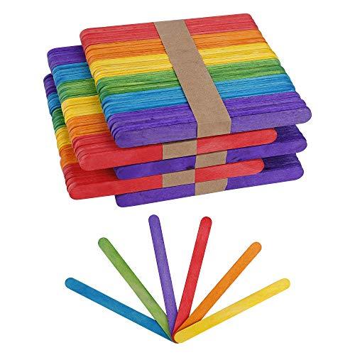 Palos de Madera Colores Palos de Manualidades Palos de Helado para DIY Bricolaje Artesanía Juguetes creativos Hechos a Mano 250 Piezas