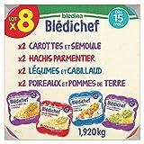 Blédina 8 Blédichef Dès 15 Mois 4 Recettes – 8 plats repas pour les bébés à partir de 15 mois