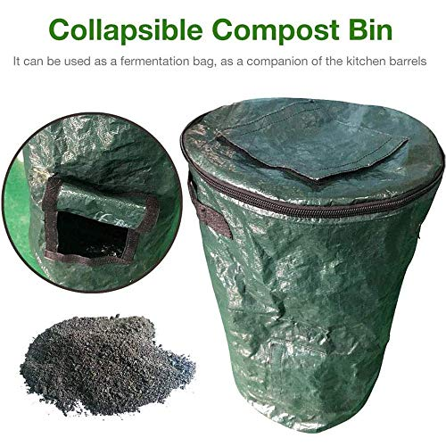 Review Of Diandou Organic Waste Kitchen Garden Yard Compost Bag,Collapsible Composter Bin Organic PE...