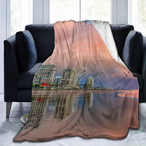 Affordable shop Fleecedecke, 127 x 152,4 cm, California San Diego, Flanell-Fleece, weich, warm, Plüsch, Überwurf für Bett/Couch/Sofa/Büro/Camping