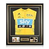 exclusivememorabilia.com Bradley Wiggins firmó el Maillot Amarillo Tour De France 2012. Enmarcado