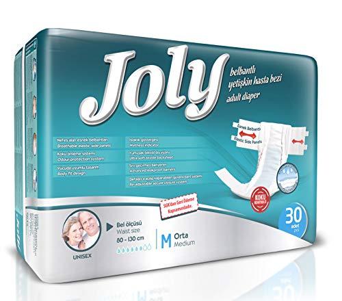 Abelsmann - 30 Stück - Joly Inkontinenz-Windeln für Erwachsene - Größe M - Gegen starke Blasenschwäche